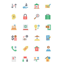 Flat Card Payment Icons 5 vector image
