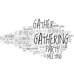Gather word cloud concept vector