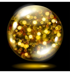 Glass sphere with glowing sparkles vector image vector image