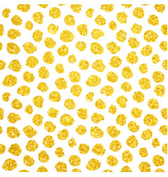 Hand drawn gold dots seamless pattern vector