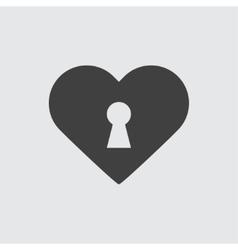 Heart lock icon vector image vector image