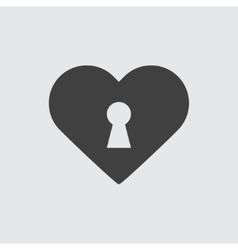 Heart lock icon vector image