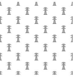High voltage tower pattern vector