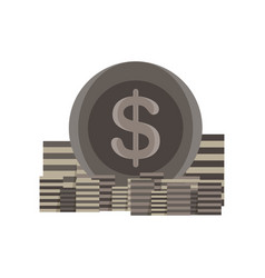 icon coin stack money gold bank sign finance vector image vector image