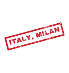 Italy milan rubber stamp vector