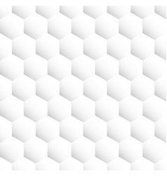 light grey seamless hexagonal pattern vector image vector image
