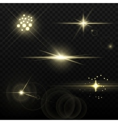 Light Yellow Optical Lens Flares vector image