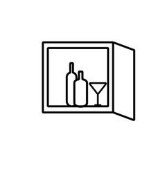 minibar icon vector image