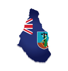 Montserrat flag amp map vector
