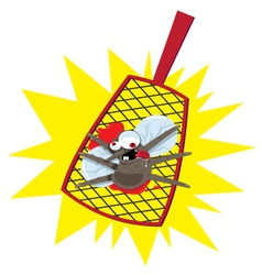 mosquito flyswatter vector image vector image