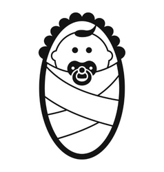 Newborn icon in simple style vector image vector image