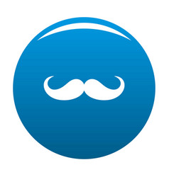Operetta whiskers icon blue vector