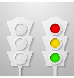 Paper traffic light vector image