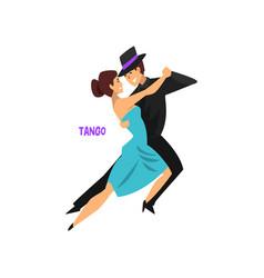 professional dancer couple dancing tango pair of vector image vector image
