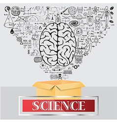Science think outside the box vector image vector image