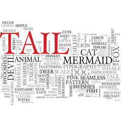 Tail word cloud concept vector