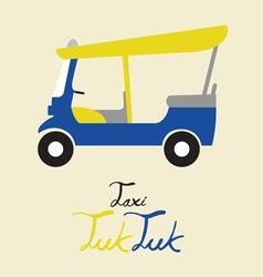 Taxi tuk tuk vector