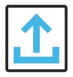 Upload framed icon vector