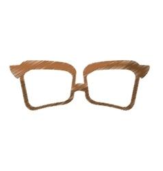 Vintage glasses frame icon image vector