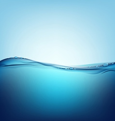 water with air bubbles vector image