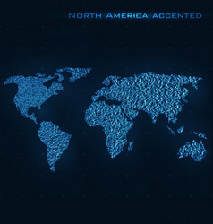 World abstract map north america vector