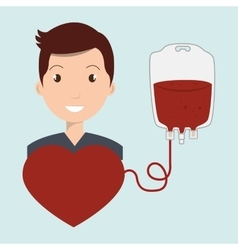 Man blood donor red vector