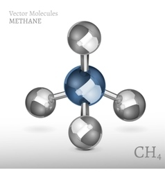 Methane molecule 01 a vector