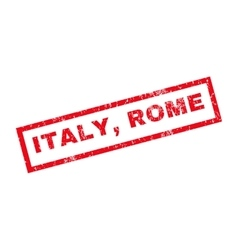 Italy rome rubber stamp vector