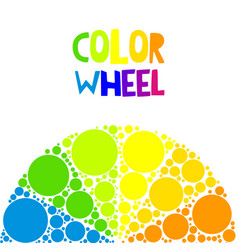 Color wheel or color circle on background vector