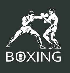 Boxing players fighting sportsman games vector