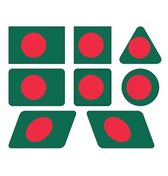 Buttons with flag of bangladesh vector