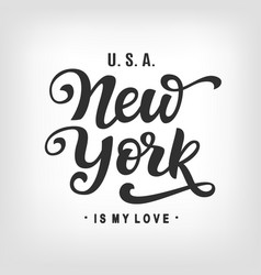 New york city typography with modern calligraphy vector