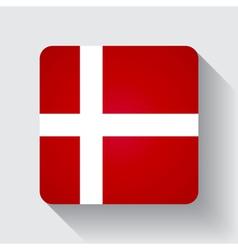 Web button with flag of denmark vector