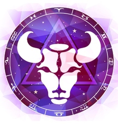 Zodiac sign taurus vector