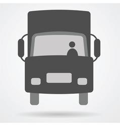Big truck car web icon vector