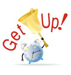 alarm clock with a bell vector image