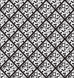 Seamless pattern of squares vector