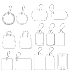 Tags set contours vector