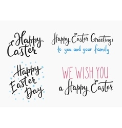 Happy easter day simple lettering vector