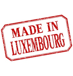 Luxembourg - made in red vintage isolated label vector