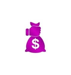 Pictograph of money in hand vector