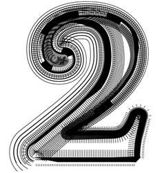 abstract font number 2 vector image