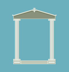 Antique marble temple front with ionic columns vector image
