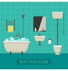 Bathroom flat banner vector