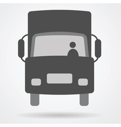 big truck car web icon vector image vector image