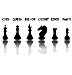Chess pieces silhouette set vector