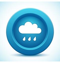 Cloud blue button vector image