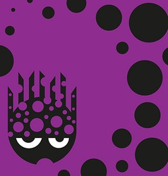 Cute bubbly monster vector image vector image