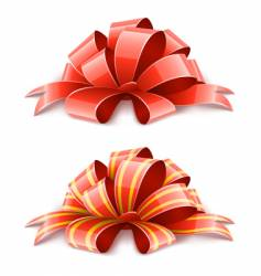 decorative ribbons vector image vector image