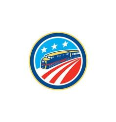 Diesel train american stars stripes retro vector
